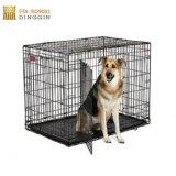 Cage de chien dans l'extérieur en acier inoxydable