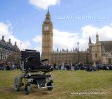 Sedia a rotelle piegante Et-12f22 di potere del E-Trono dorato del motore