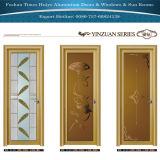 Einfacher Entwurfs-Glaspanel-Aluminiumflügelfenster-Tür für Haus-Dekoration