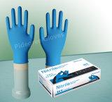 Arbeits-wegwerfbarer blauer Nitril-Handschuh