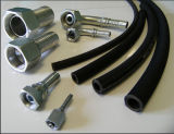 R1 tresse métallique en acier flexible en caoutchouc / le flexible hydraulique