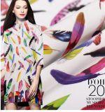 Crêpe de Chine dernière plume de couleur jet d'encre numérique crêpe de Chine Soie tissus pour vêtements de tissus de soie