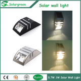 rostfreie wasserdichte Qualitäts-im Freien Solarwand-Lampe des Deckel-0.6W
