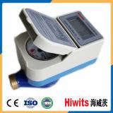 Mètre d'eau payé d'avance par carte en laiton horizontale de Digitals IC