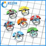 Sostenedor del anillo de dedo del logotipo del personaje de dibujos animados para el regalo de la compañía con diseño de las porciones