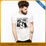 Les hommes 100% de coton court- la vente en gros ronde de T-shirt de collet de chemise