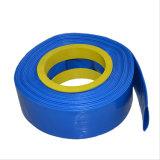 """3/4 """" - """" boyau bleu de Layflat d'irrigation de l'eau de PVC 14"""