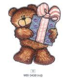 La guarnizione del ricamo dell'orso di disegno di fantasia