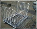 Falten und stapelbarer Speicherrahmen/galvanisierter Maschendraht-Behälter
