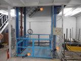 كهربائيّة شاقوليّ [غيد ريل] هيدروليّة بضائع مصعد مصعد لأنّ مستودع