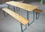 Barato Cerveja de madeira de abeto sólido exterior conjuntos de Mesa, cerveja e de bancada de mesa