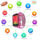 Relógio colorido do perseguidor do GPS da tela para miúdos com SOS Boutton