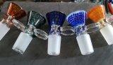 El color multi Waterpipe de cristal rueda los tazones de fuente Tobacc0