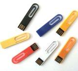 주문을 받아서 만들어진 로고 (WY-PL45)를 가진 소형 클립 USB 펜 드라이브