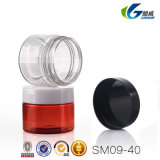 卸し売り円形のこはく色の口径の空想空ペットプラスチック装飾的な瓶