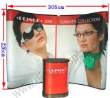 10 FT Curvy Présentoir publicitaire bannière Pop up Stand (PG-01-A)