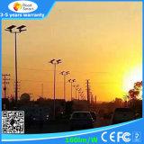Lumière solaire de jardin de rue de DEL avec l'éclairage extérieur de conformité de FCC de la CE