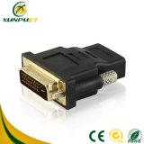 DVI macho-hembra de energía personalizado 24+5 M/ VGA F adaptador de datos