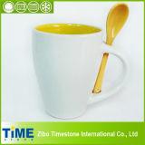 Tasse à café de loisirs, tasse en céramique avec cuillère (082704)
