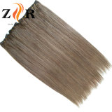 Trama china drenada doble del pelo humano del pelo del color oscuro