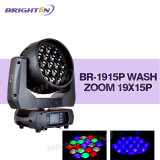 19*15W voll und jeder Pixel gesteuerte bewegliche Kopf der Wäsche-LED