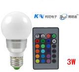 Control remoto por infrarrojos Lámpara LED 3W RGB LED de ahorro de energía