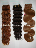 Выдвижение 100% курчавых волос человеческих волос девственницы естественное