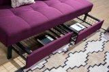 Sofá cama plegable fabuloso Futon con almacenamiento