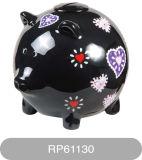 소리 (RP61130)를 가진 둥근 돼지 같은 동전 은행