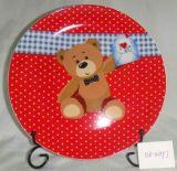 338-4059J 사기그릇 격판덮개 곰 디자인 3 색깔