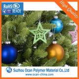Пленка PVC зеленого цвета 0.18mm природы твердая для рождественских елок