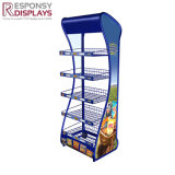 Un paquete plano planta portátil de pantalla de metal alimentos Snack Rack