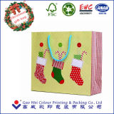 Настраиваемые Рождество бумажный мешок для подарочной упаковки