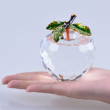 80mm Crystal Apple per Paperweight o Wedding Favor Gift