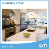 Populäre weiße Quarz-Steincountertop-Materialien für Badezimmer