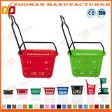A compra plástica do rolamento do supermercado roda a cesta por Fábrica (Zhb82)