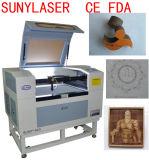 Cortador tamaño pequeño del laser del CO2 para la cartulina en el precio competitivo