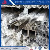 304 de vierkante Pijp van de Leuning van de Balustrade van het Roestvrij staal