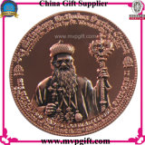 Pièce de monnaie personnalisée d'enjeu en métal pour le cadeau religieux de pièce de monnaie