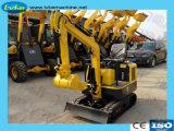 1000kg 0.02台のバケツの小型掘削機が付いているマイクロクローラー掘削機