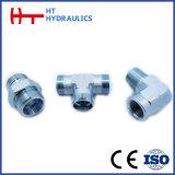 Mâle métrique 90degrés du flexible hydraulique de l'adaptateur de connecteur (1C9.1D9.1C9-RN. 1D9-RN)