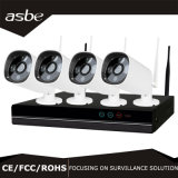câmera de sistema sem fio da segurança do CCTV do jogo do IP NVR da bala de 4CH 1080P para a HOME