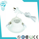 5W enfoncés par SAA Dimmable LED s'allument vers le bas