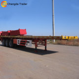 reboque Flatbed do Axel 40feet 3 com fechamento do recipiente