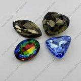 製造業者からの黒ダイヤの楕円形の水晶要素は卸し売り販売を指示する