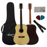 Торговая марка Aiersi 41 дюйма Dreadnaught твердых ель сверху акустическая гитара
