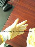 Хлопок двойной вязки ПВХ пунктирной промышленной безопасности руки рабочие перчатки