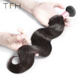Grau 9A prancha em bruto Virgem Brasileira Onda Corpo Cabelo #1b de cabelo humano trama 100% brasileira de cabelo humano tecem Bundles