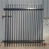 黒によって電流を通される屋外の金属の塀のパネル