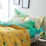 Katoenen van het Ontwerp van de luxe het Eenvoudige Stijl Afgedrukte Blad van het Bed